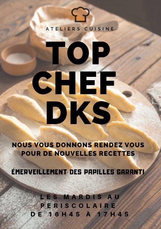 Affiche atelier cuisine dks